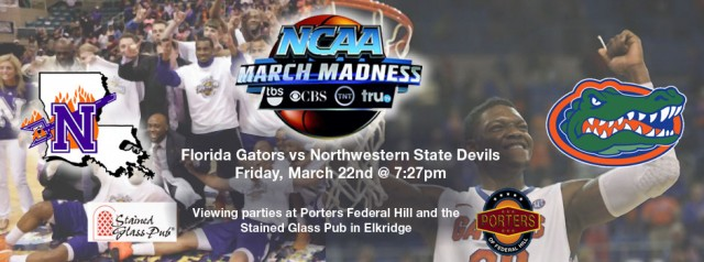 Baltimore Gators Viewing Party for March Madness Round 1